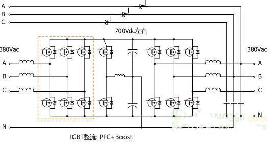 电路都工作在高频(几khz以上)且没有输出变压器的ups